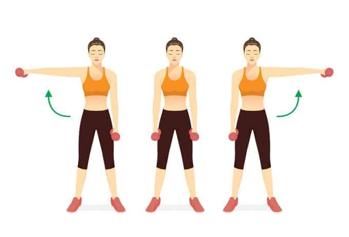 Elevaciones laterales para hombro