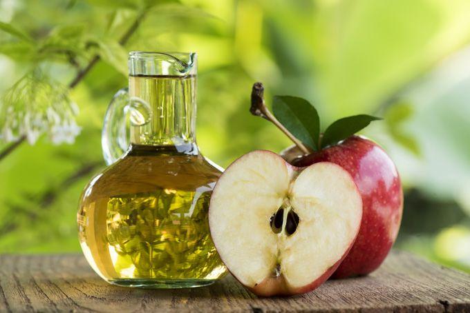Mascarilla de vinagra de manzana y aceite de oliva